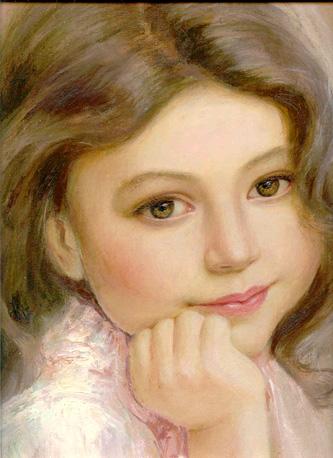Портрет детский живопись холст масло