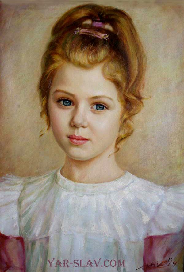 Живописный портрет холст масло