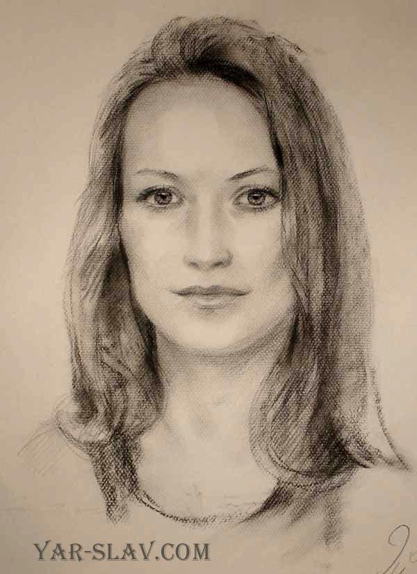 нарисовать портрет карандашом с фотографии: