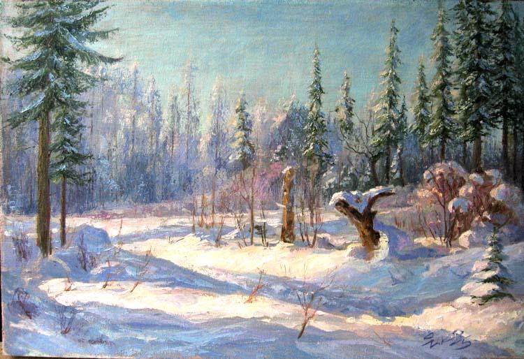 Зимний пейзаж зимний пейзаж близ