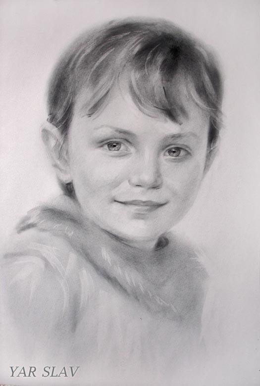 Портрет графика детский портрет